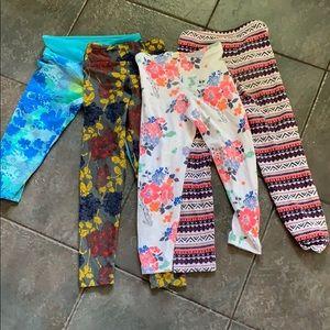 4 Pack Girls Leggings 5/6